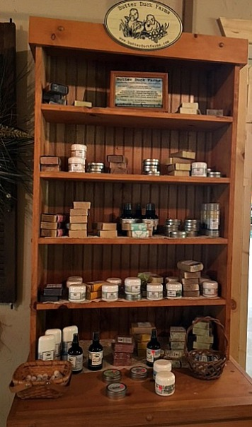 cosmetic products shelve